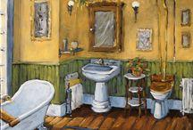Bathrooms art