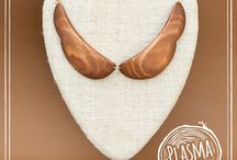 wood / handmade wooden jewelry collection #necklace #wood
