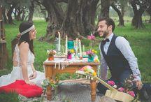 # WEDDING HIPPIE # / Wedding Inspiration Hippie Région PACA bohemian hippie sud // mariage et ceremonie // Crâne de buffle // Dentelle // Oliviers // Côté d'Azur