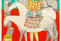 Illustrations Horses