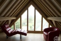 Loft Living / Timber frame lofts, part of timber frame houses by Carpenter Oak Ltd - creators of hand crafted timber frame buildings.