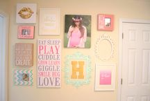 Gallery walls for nursery