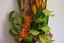 Цветочный декор с экзотами