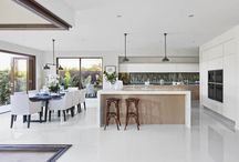 Open plan living and kitchens