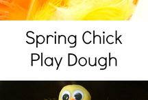 Spring Chick Play Dough Invitation