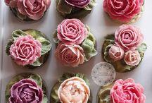 цветы крем