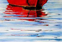 watercolour boat
