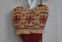 Cross stitch burlap