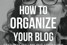 BLOG ORGANISATION / Tips on organising your blog, about page, and other helpful tips #blog #organisation
