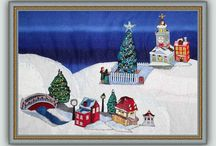 Merry Christmas in Machine Embroidery / The most #magical and anticipated time of the year for many people, young, old and all ages in between. We here at #BFC-Creations.com love it as much as you do. We delight in finding new ways of celebrating with you, our members and our friends. With designs, with your ideas and with embellishments this board is dedicated to the Miracle that is #Christmas the world over.