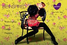 BE Inspired- A Catalog Feature / BE Inspired always with Goodrich. Presenting the latest Spring/Summer 2014 updates for an ensemble of Wallcovering, Fabric, Carpet and Flooring
