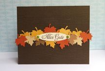 Autumn themed cards / card designs and colours that I love to make Autumn themed cards with