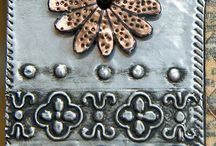 Pewter & Copper / Silver , copper and pewter metal art, embossing work / by Button Love (Candice)