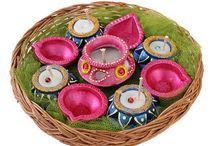 Diwali Diyas / Some beautiful designer Diwali diyas for home decoration purpose.