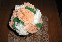 Papírból készült virágok