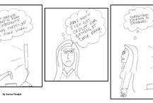 Anita Brake by Ivanna Realjob / Comic Strip character Anita Brake battles the office.