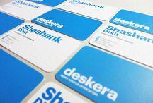 """VISITTKORT (business cards) / Denne """"boarden"""" har jeg laget til ære for alle mine elever.  Eksempler på designmessig enkle visittkort som signaliserer seriøsitet uten å dermed være kjedelige. Her er det """"less is more"""" som gjelder. Se også behance.net """"business cards"""" for mer kvalitetsdesign."""