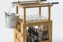 Pallet Bars and Wine racks / Rustic look at the bar!!