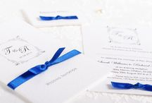 Lavish Wedding Invitations & Stationery / Handmade wedding invitation and stationery collection, featuring a beautiful border illustration and diamantes