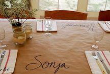 Table settings / dinner party ideas