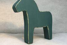 Dala Horse / Scandinavian style Swedish national horse Dalarna Dalahorse Wooden horse