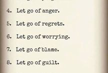 Let go Anger management ideas