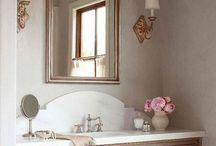 pink half bath ideas
