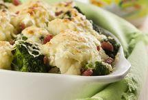 soufle de brocoli y coliflor