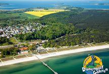Abenteuergolf aus der Luft / Luftaufnahmen der Abenteuergolfanlage im Ostseebad Göhren auf der Insel Rügen