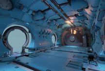 sci-fi: spacecraft interior
