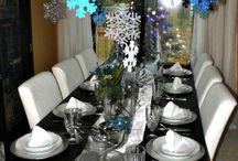 Christmas/Winter Wonderland Table Decor Ideas