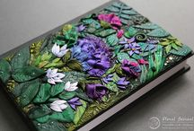 Polymer clay book cover