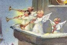 ангелы новый год Christmas, new year, angels
