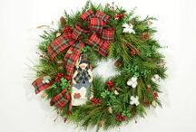 Christmas & Winter / Christmas, holiday, and winter wreaths, are perfect for decorating the home or office.  They brighten the decor and bring warmth to the environment. Plus, they can be a focal point of conversation. (Wreaths on this board are both active on our website, or from our archives, which can be used for inspiration in our custom shop.)