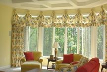 window treatment and drape inspirations / Window treatment and drapery ideas for your bay windows, to your arched windows. Drapery for your bedroom, dining room, living, great room and much more