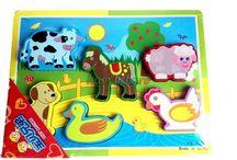 animale lemn copii