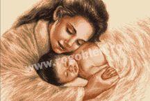 Dragoste de mama / Modele de goblen