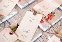 Wedding place cards / Esküvői ültető kártyák