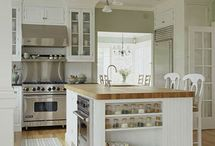 "Ideas for my ""forever"" kitchen! / I am so stuck on the whole white cabinet thing, I just can't get past it! I love the clean look of it with natural colors from lemons, greenery, and natural wood.  / by Sarah Carroll"
