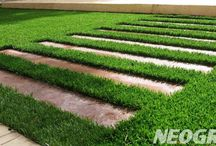 Stepping Stones in Artificial Turf