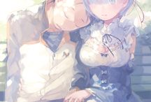 ○REM x SUBARU○ / I love rem because she never abandons subaru and always sees the good in even the darkest situations.