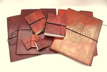 Katoo&Zoo -foto/notitie boek / Faitrade/ Foto - notitie boeken. met handgeschept papier en lederen kaft