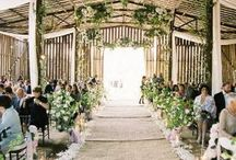 Down the aisle / Some of my favourite wedding aisles