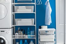 Laundry room / Elfa is offering flexible interior products and made to measure sliding doors.