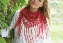 Foulards triangulaires crochet