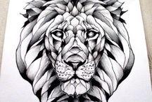 Lion heads tattoos