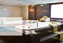 Balneario Real /  Una experiencia inolvidable.  El Balneario dispone de las instalaciones más modernas integradas en el clásico edificio de la Casa de Baños. Un espacio de bienestar que, además del agua, ofrece una amplia gama de servicios orientados ala salud, el bienestar y la belleza.