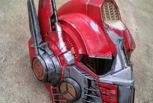 Customized Optimus Prime helmet / A custom painted red Optimus Prime helmet
