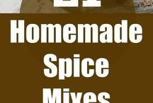 Home made mixes, spices, Seasonings and &