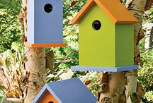 Painted Bird Houses / Ideas for color combinations on bird houses